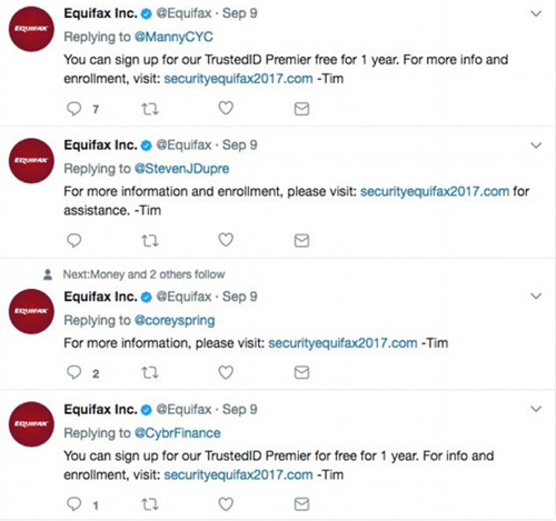 Equifax Fake Domain Twitter Mistake
